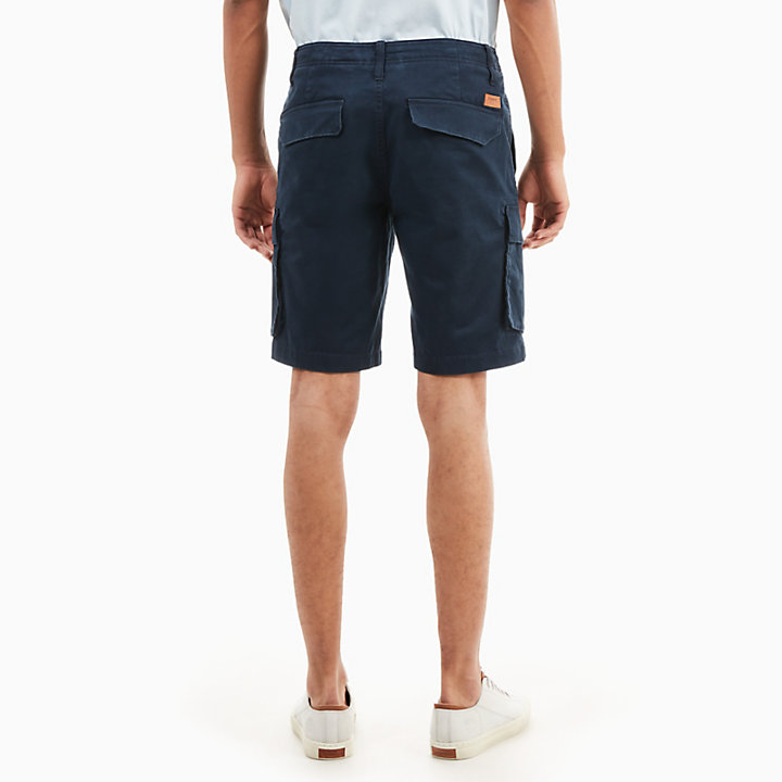 Squam Lake Cargo Shorts for Men in Navy-