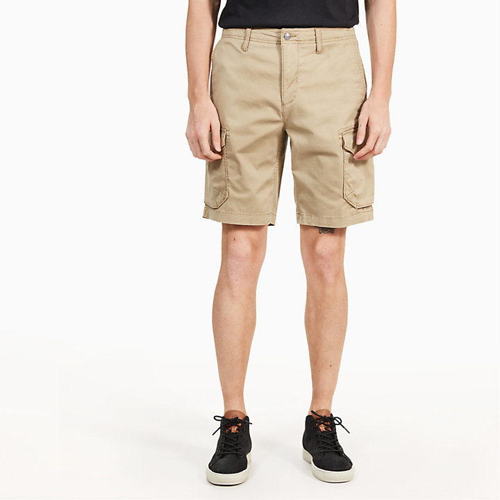 Squam Lake Cargo Shorts for Men in Khaki-