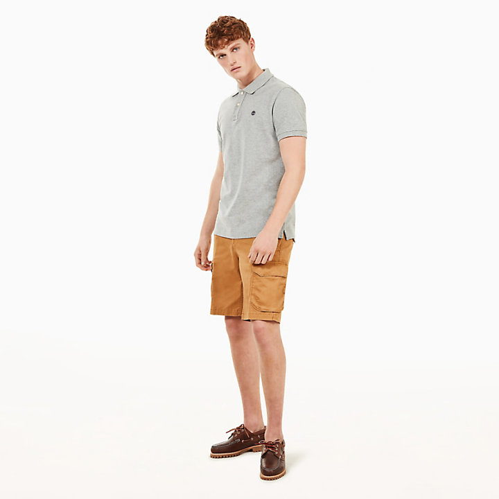 Squam Lake Cargo Shorts for Men in Yellow-
