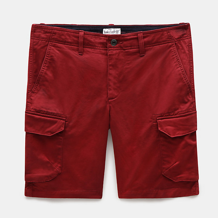 Webster Lake Cargo Herrenshorts in Burgunderrot-