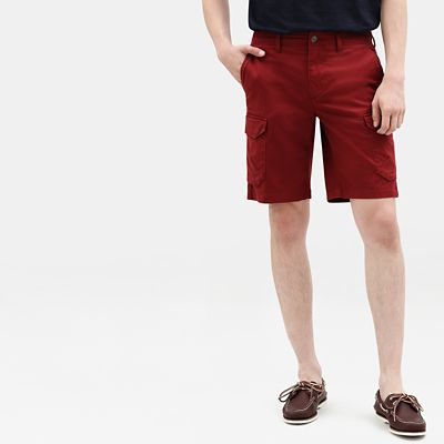 Webster+Lake+Cargo+Shorts+for+Men+in+Burgundy