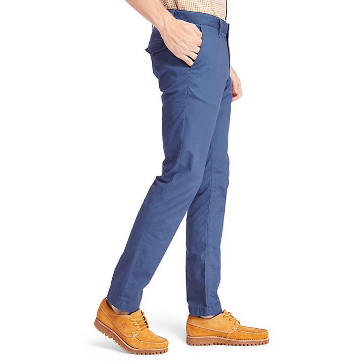 Sargent Lake Stretch Chino voor Heren in blauw-