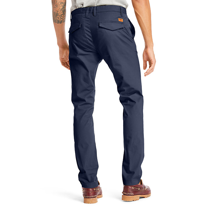 Sargent Lake Poplin Chinos for Men in Navy-