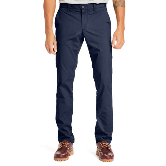Sargent Lake Poplin Chinos for Men in Navy | Timberland
