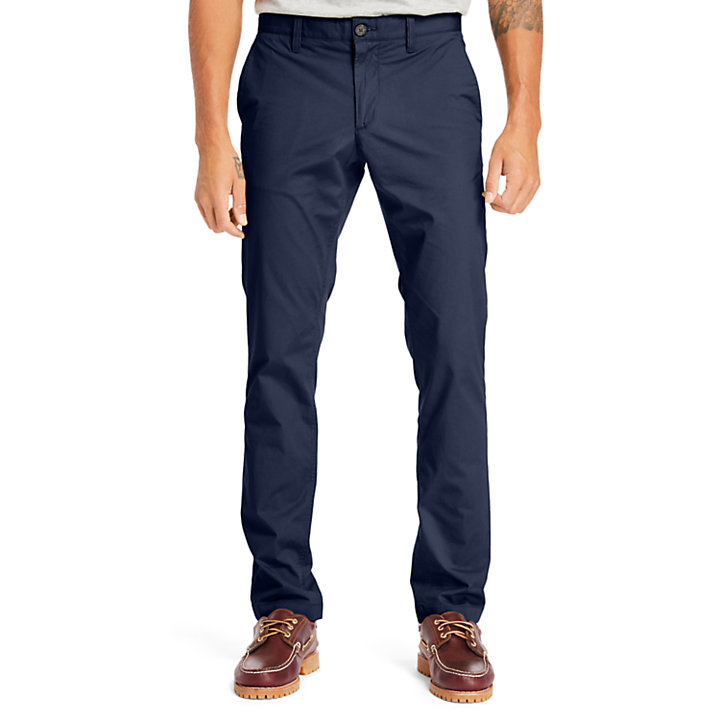 Chino stretch Sargent Lake homme en bleu marine-