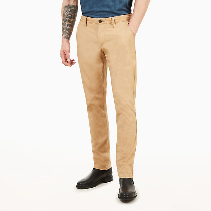 Sargent Lake Poplin Chinos for Men in Beige-