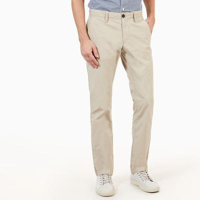 Sargent+Lake+Poplin+Chino+Heren+in+Taupe