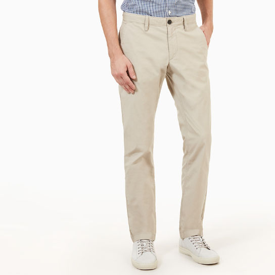 Sargent Lake Poplin Chinos for Men in Taupe | Timberland