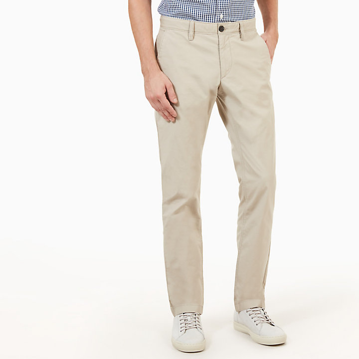 Sargent Lake Poplin Chino Heren in Taupe-