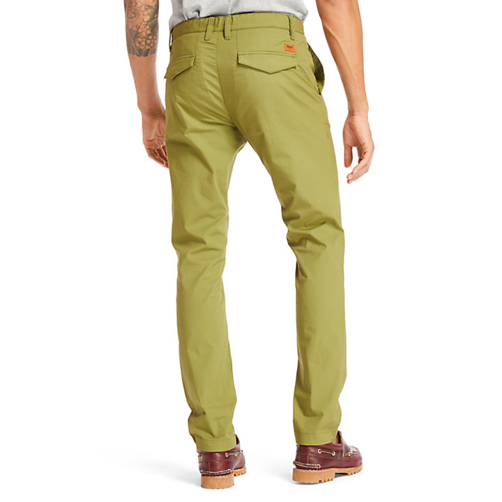 Chino stretch Sargent Lake pour homme en vert-