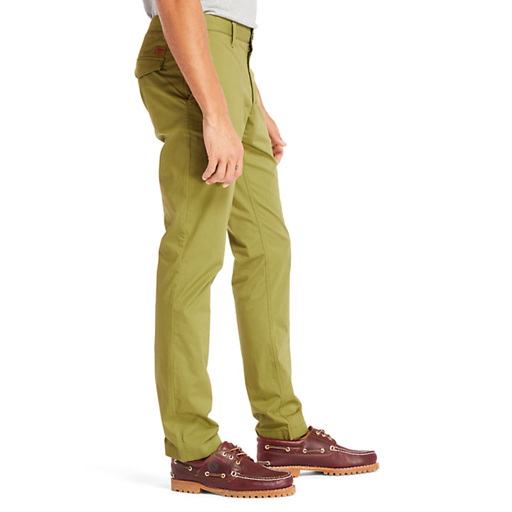 Sargent Lake Stretch Chino voor Heren in groen-