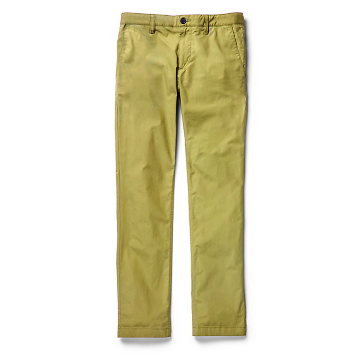 Sargent Lake Stretch Chinos for Men in Green-