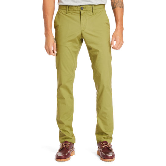 Sargent Lake Stretch Chinos for Men in Green | Timberland