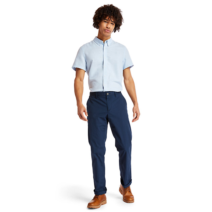 Squam Lake Poplin Chinos for Men in Navy-