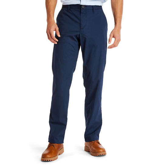 Squam Lake Poplin Chinos for Men in Navy | Timberland