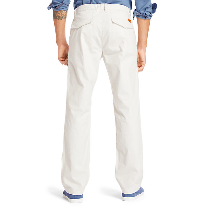 Squam Lake Stretch Chinos for Men in Light Grey-