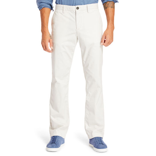 Squam Lake Stretch Chinos for Men in Light Grey | Timberland
