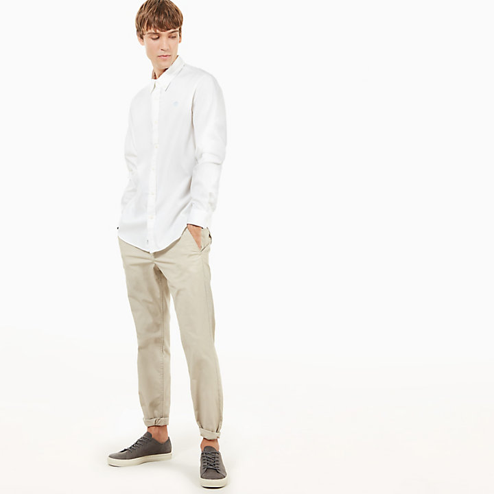 Squam Lake Poplin Chinos for Men in Greige-