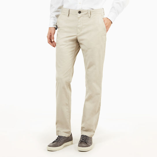 Squam Lake Poplin Chino voor Heren in Grijs-beige | Timberland