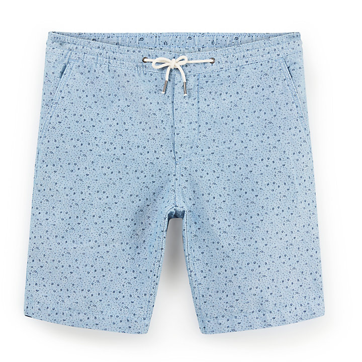 Squam Lake Chambray Short voor Heren in Blauw-
