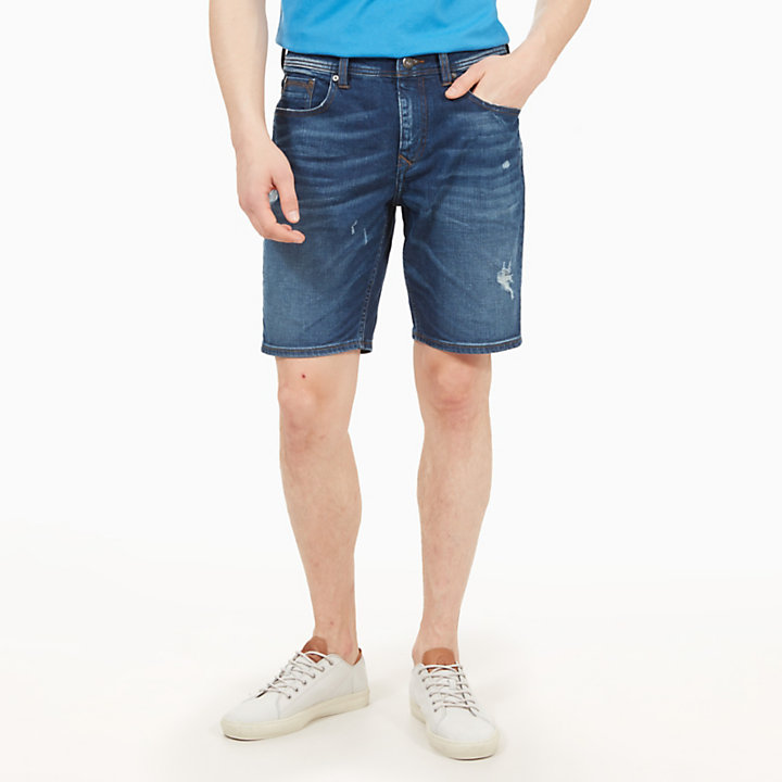 Canobie Lake Shorts for Men in Indigo Blue-
