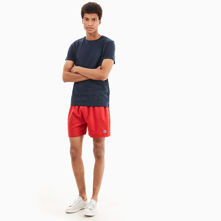 Sunapee Lake Swimming Trunks for Men in Red-
