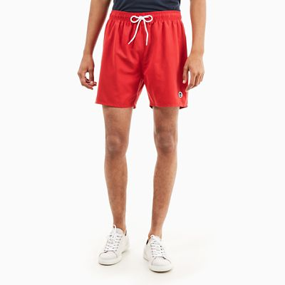 Sunapee+Lake+Swimming+Trunks+for+Men+in+Red