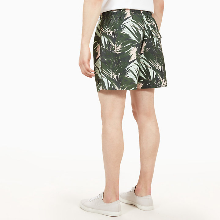 Sunapee Patterned Leisure Shorts for Men in Green-
