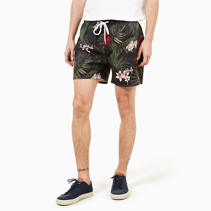 Sunapee Patterned Leisure Shorts for Men in Red-