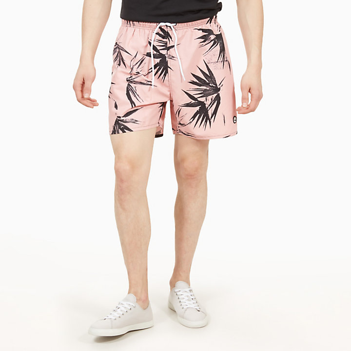 Sunapee Patterned Leisure Shorts for Men in Pink-