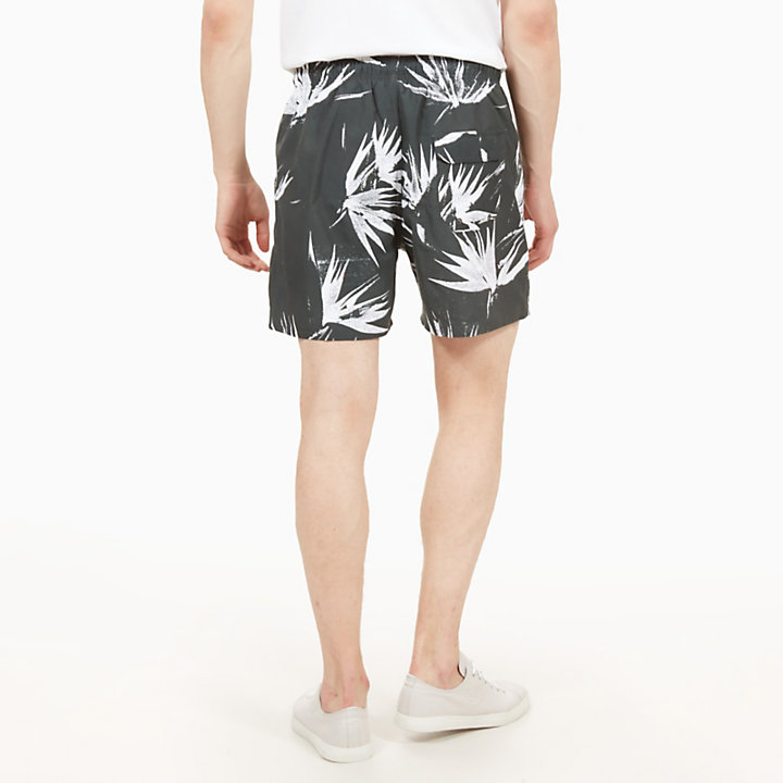 Sunapee Patterned Leisure Shorts for Men in Dark Green-