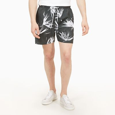 Sunapee+Patterned+Leisure+Shorts+for+Men+in+Dark+Green