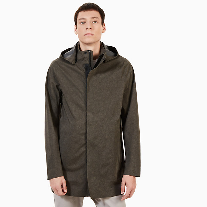Mount Ascutney Raincoat for Men in Black-