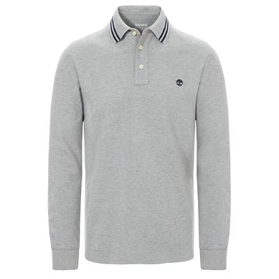 Millers+River+LS+Piqu%C3%A9+Polo+Shirt+for+Men+in+Grey