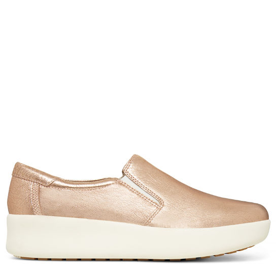 Damen Berlin Park Slip-on Shoe Metallic-Rosa | Timberland