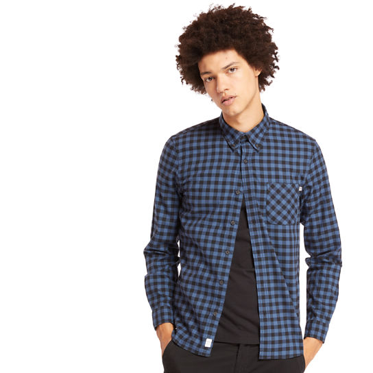 Back River Slim Check Shirt for Men in Navy | Timberland