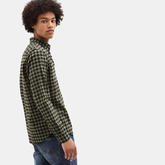 Back River Slim Check Shirt for Men in Green | Timberland