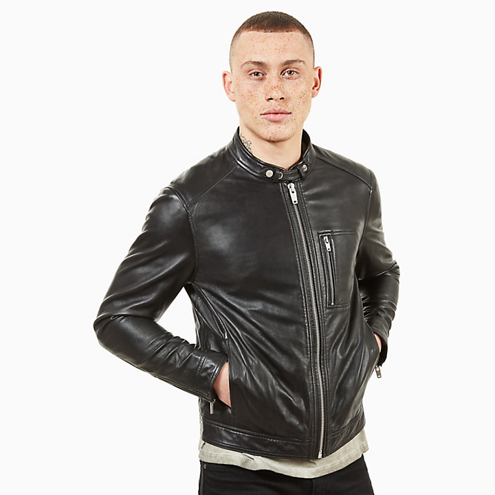 Kinsman Mountain Leather Jacket for Men in Black-
