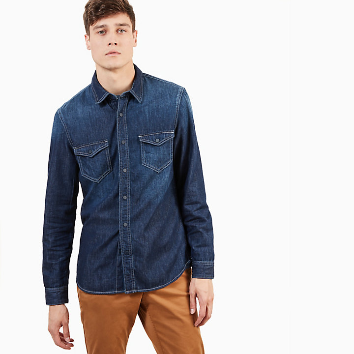 Denim Overhemd Heren.Mumford River Denim Overhemd Voor Heren In Indigo Timberland