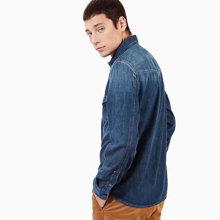 Mumford River Denim Shirt for Men in Blue-