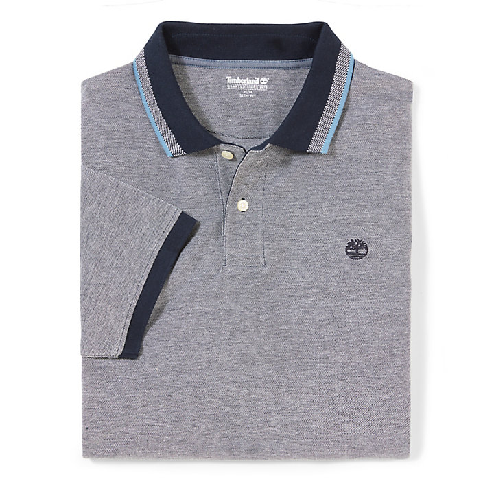 Millers River Piqué Polo Shirt for Men in Navy-