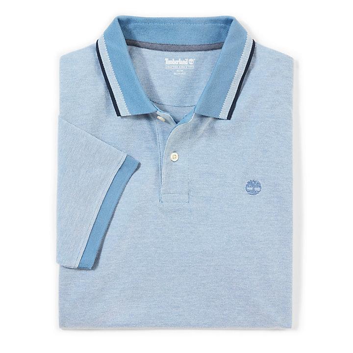 Millers River Pikee Polohemd für Herren in Blau-