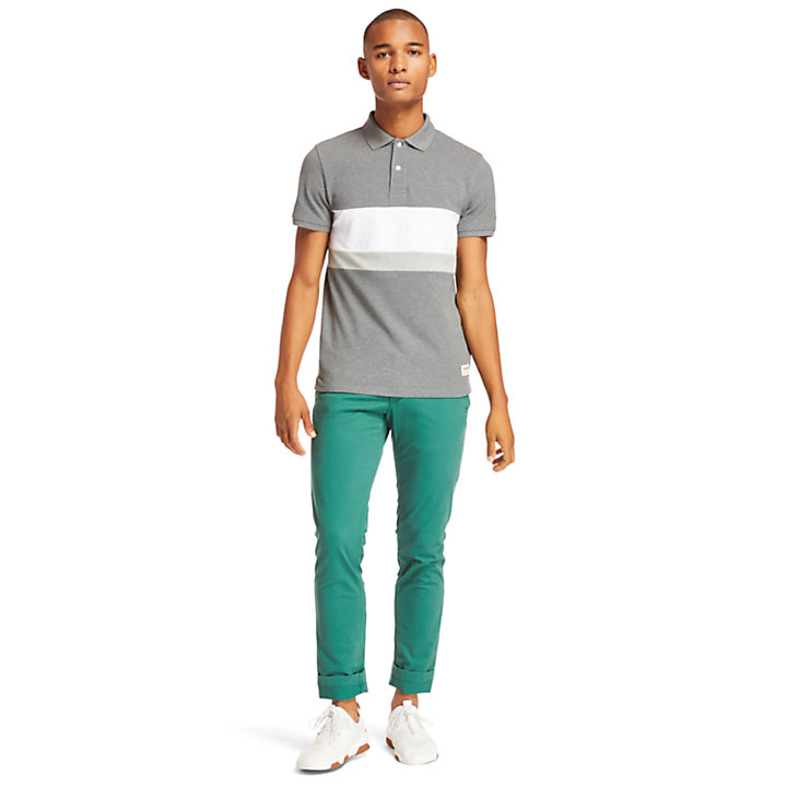 Polo color-block Millers River pour homme en gris-