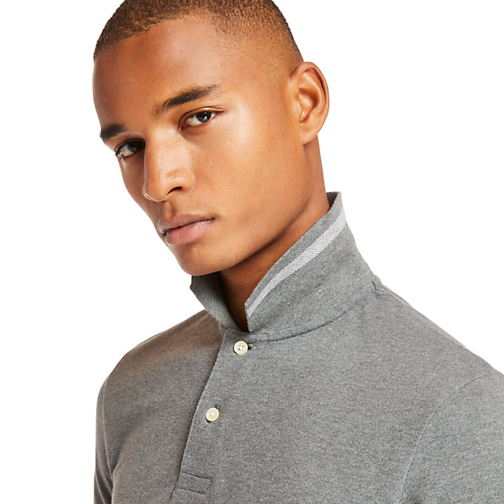 Millers River Colour Block Polo Shirt for Men in Grey-