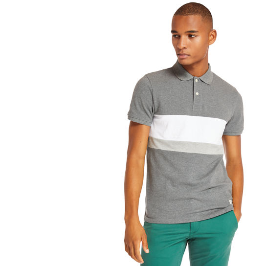 Millers River Colour Block Polo Shirt for Men in Grey | Timberland
