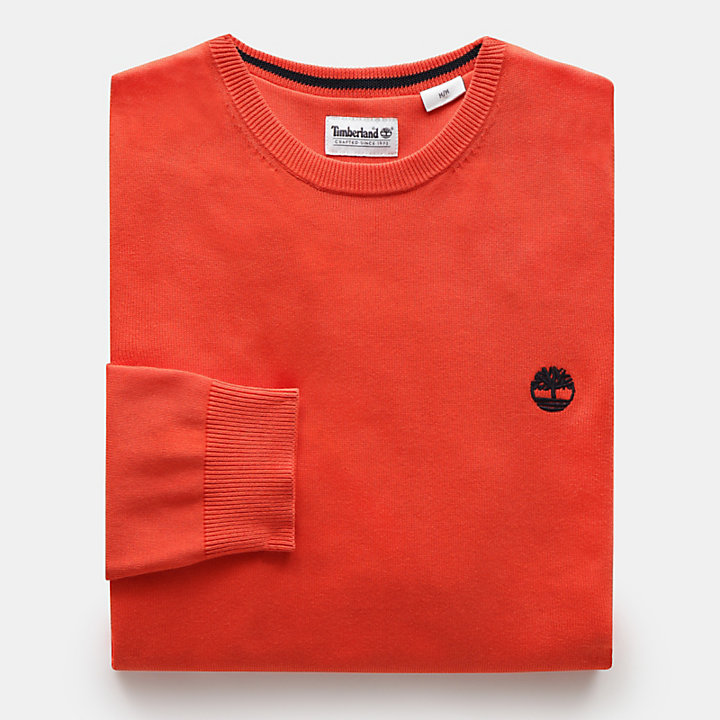 Manhan River Cotton Sweater for Men in Orange-