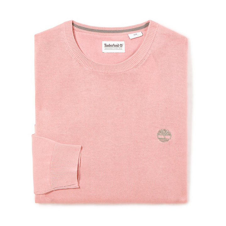 Sweat à col rond Manhan River en coton en rose-