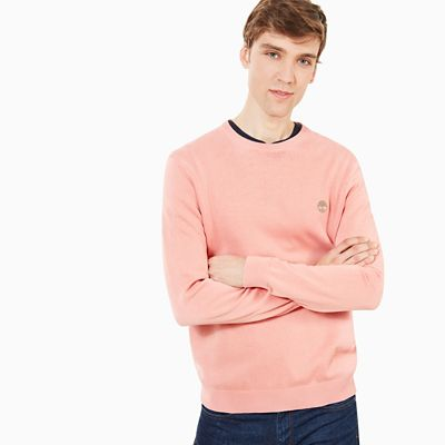 Manhan+River%C2%A0Cotton+Crew%C2%A0Neck+Sweater+in+Pink