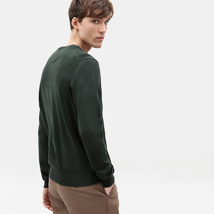 Manhan River Katoenen Sweater voor Heren in groen-