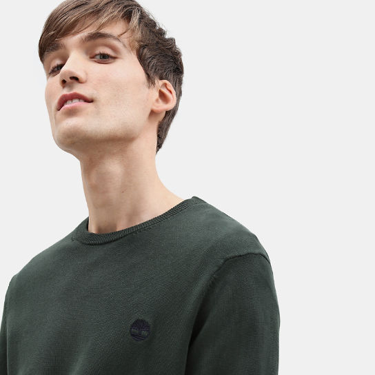 Manhan River Cotton Sweater for Men in Green | Timberland
